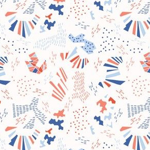 Memphis Style Geometric Abstract Seamless Pattern