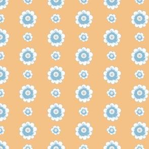 Daisy Chain_OrangeBlueCream by Paducaru