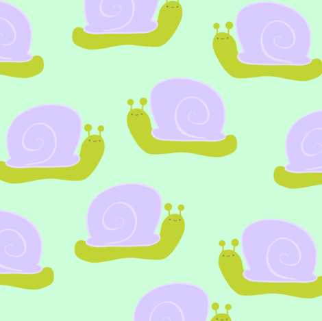 Snails  fabric by fibre_studio on Spoonflower - custom fabric