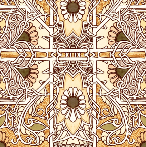 Blooming in a Twisted Way fabric by edsel2084 on Spoonflower - custom fabric