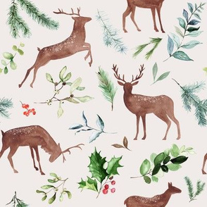 Holiday Deer // Silver Rust