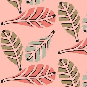 Natures Beauty / Posh Pink - Leaves