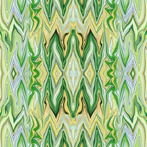 DGD26 - XL - Rococo Digital Dalliance with Hidden Gargoyles in Yellow, Green and Blue Pastels