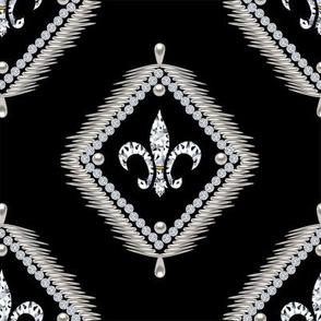 Framed Fleur De Lis