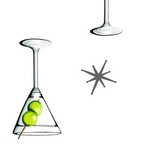 Tennis Martini Starburst