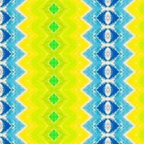 Yellow, Green, Blue Diamond Columns