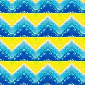 Yellow Green Blue Chevrons