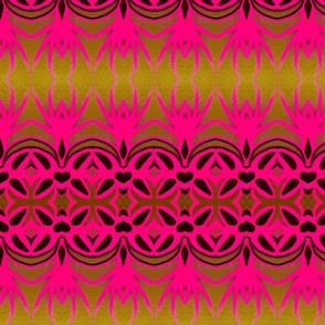pink ornate borders