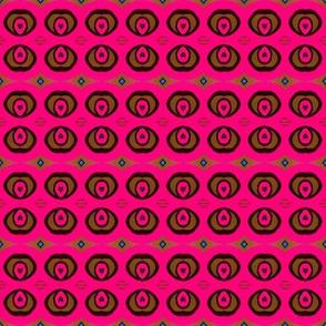 pink ornate circles black hearts