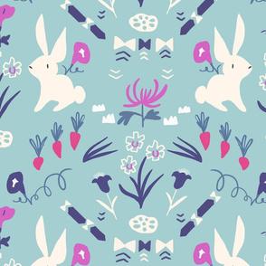Folk Bunny blue
