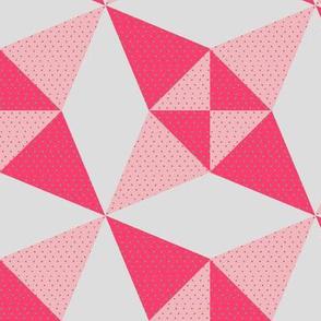 Crossed Canoes in Trendy2010s Colors Pinks