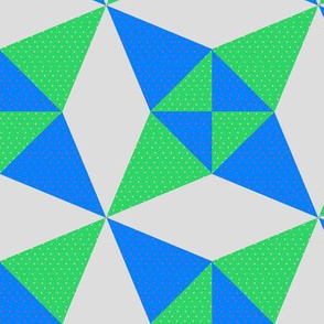 Crossed Canoes in Trendy2010s Colors Blue and Green