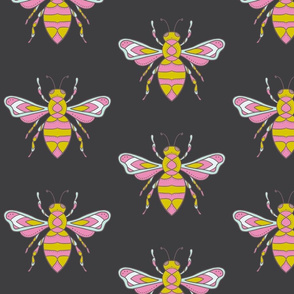 Charcoal Bees Basic