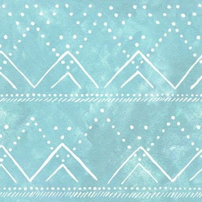 Celestial Geometric Mountain Icy Blue