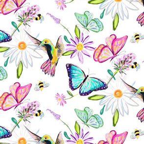 Summer Pollinators // White