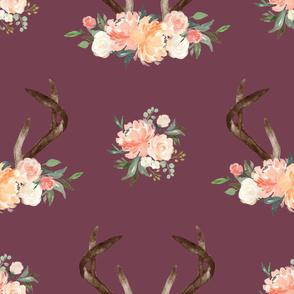 floral antler plum