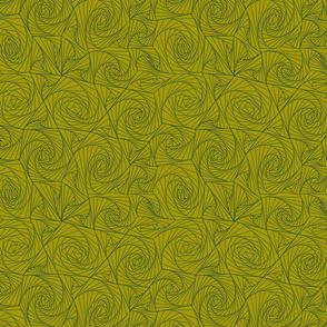 Green Moss Geometric Tangle