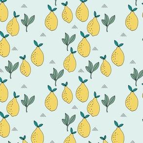 Little lemon fruit garden organic green farmer's market theme lime yellow mint