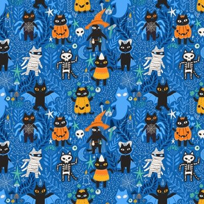 Funny and cute Halloween kitty cats kittens pattern design. Perfect for pet lovers.