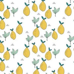Little lemon fruit lemonade garden organic green farmer's market theme lime green yellow white