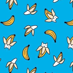 Funny yummy banana cats. Fruit kitties.