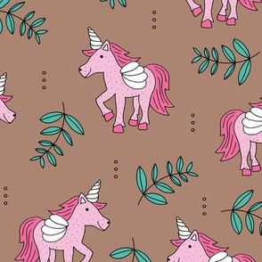 Sweet Unicorn lush summer jungle cute kawaii horses fantasy design pink blue
