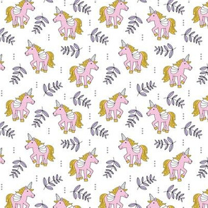 Sweet Unicorn lush summer jungle cute kawaii horses fantasy design pink lilac SMALL