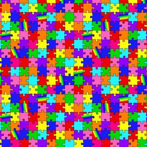 autism puzzle pieces spectrum colors