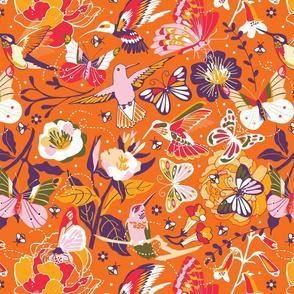 Garden pollinators | orange