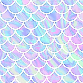 Marbled Unicorn Scale Pattern