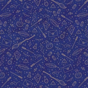 Yer a Wizard (Blue + Bronze)