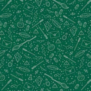 Yer a Wizard (Green + Silver)