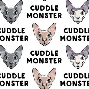 Cuddle Monster - Sphynx Cats - Hairless Cats - White - LAD19