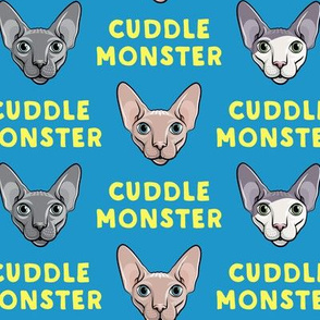 Cuddle Monster - Sphynx Cats - Hairless Cats - Blue - LAD19
