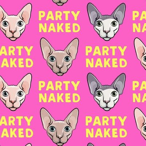 Party Naked - Sphynx Cats - Hairless Cats - Hot Pink - LAD19