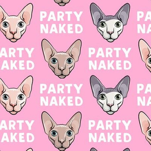 Party Naked - Sphynx Cats - Hairless Cats - Pink - LAD19