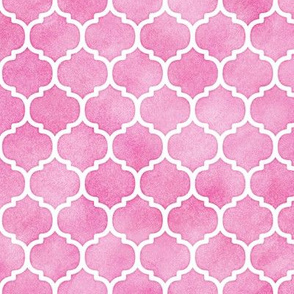 Pink Watercolor Moroccan Pattern