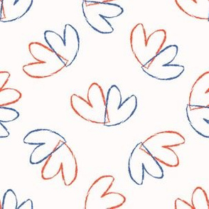 Brush Stroke Lovers Hearts Tossed Seamless Pattern