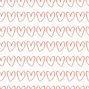 Brush Stroke Love Heart Stripes Seamless Pattern