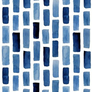 Vertical Tile Pattern in Blue