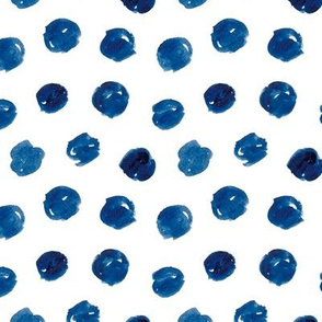 Messy Polka Dot in Dark Blue