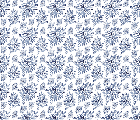 Winter Flowers fabric by dinaramay on Spoonflower - custom fabric