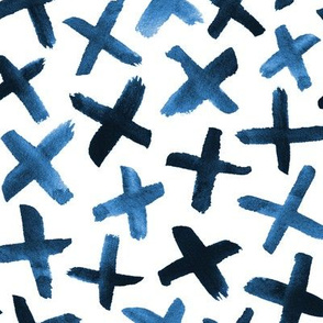 Messy Cross Pattern in Blue