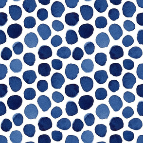 Shades of Dark Blue Polka Dot