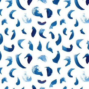 Brush Strokes Pattern in Blue