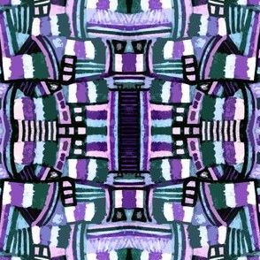 Urban Abstract Purple Green Pink