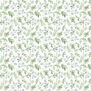 Small Repeat Eucalyptus Greenery Pattern