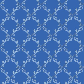 Stylized Flower Trellis Seamless Pattern
