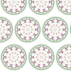 Leaf and floral radial Mandala
