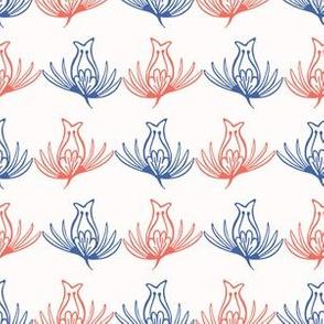 Tulip Folk Flower Stripes Seamless Pattern